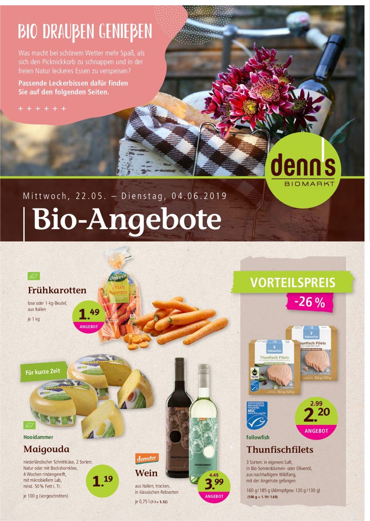 Prospekt Denn's Biomarkt vom 22.05.2019