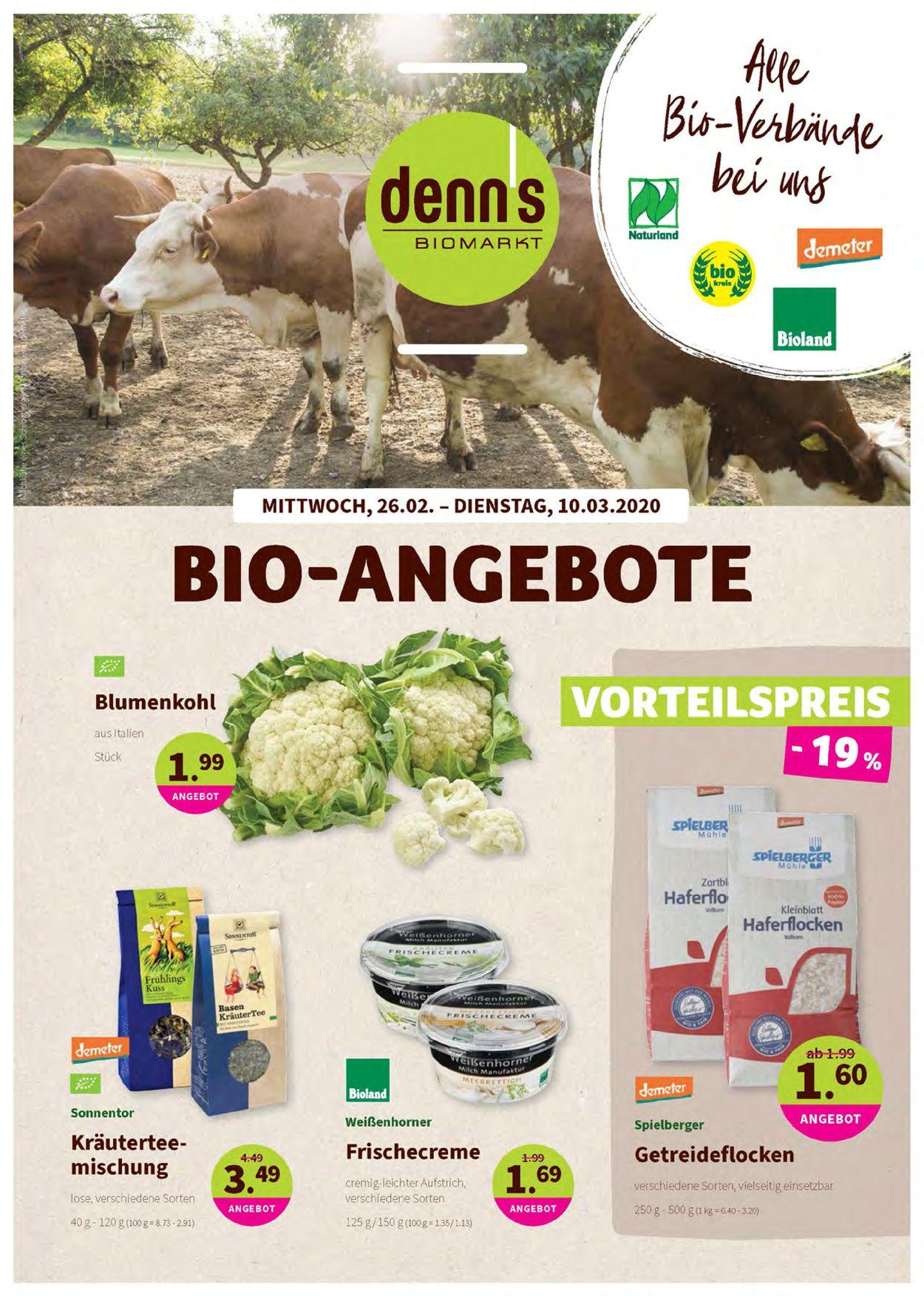 Prospekt Denn's Biomarkt vom 26.02.2020