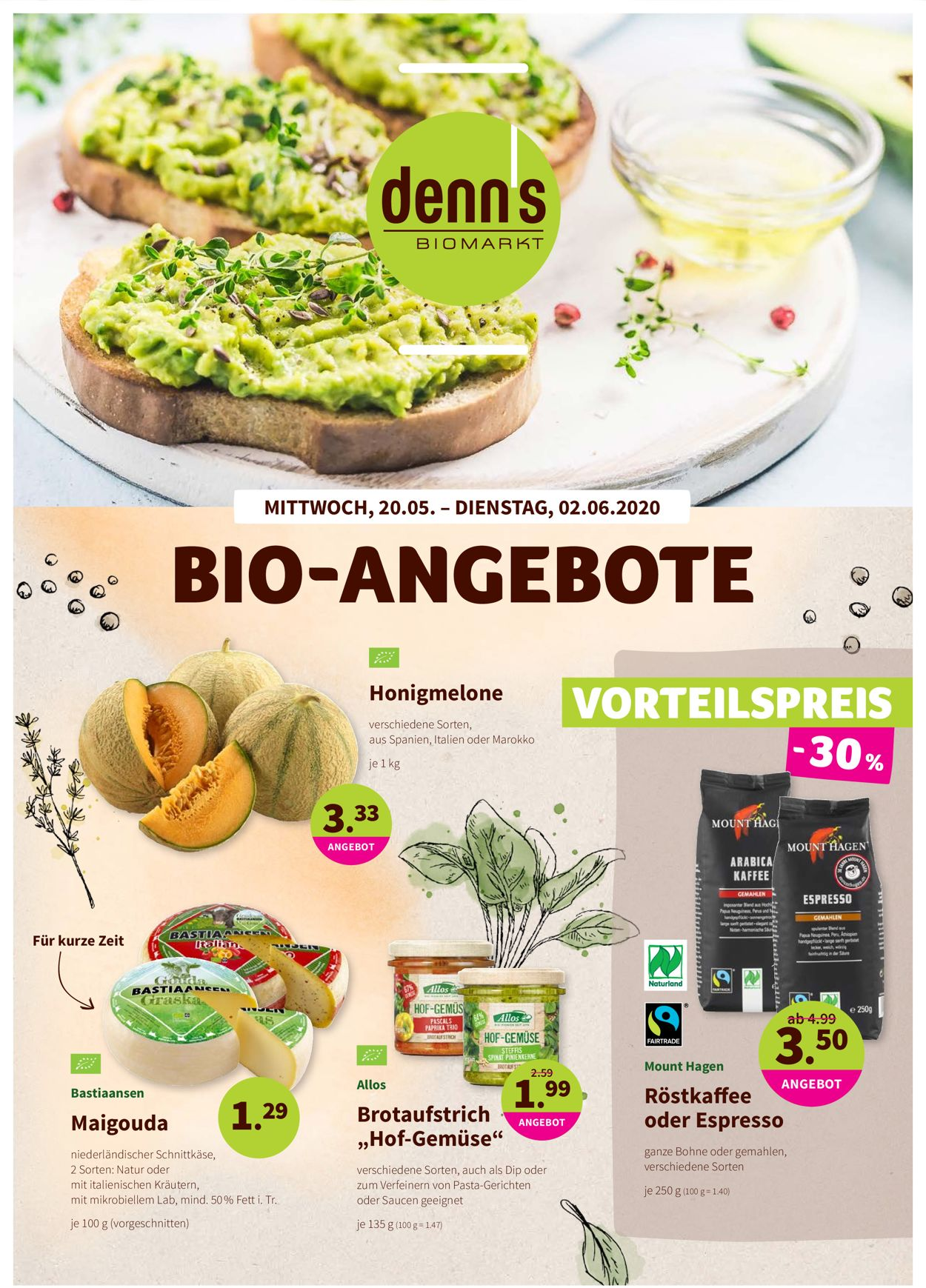 Prospekt Denn's Biomarkt vom 20.05.2020