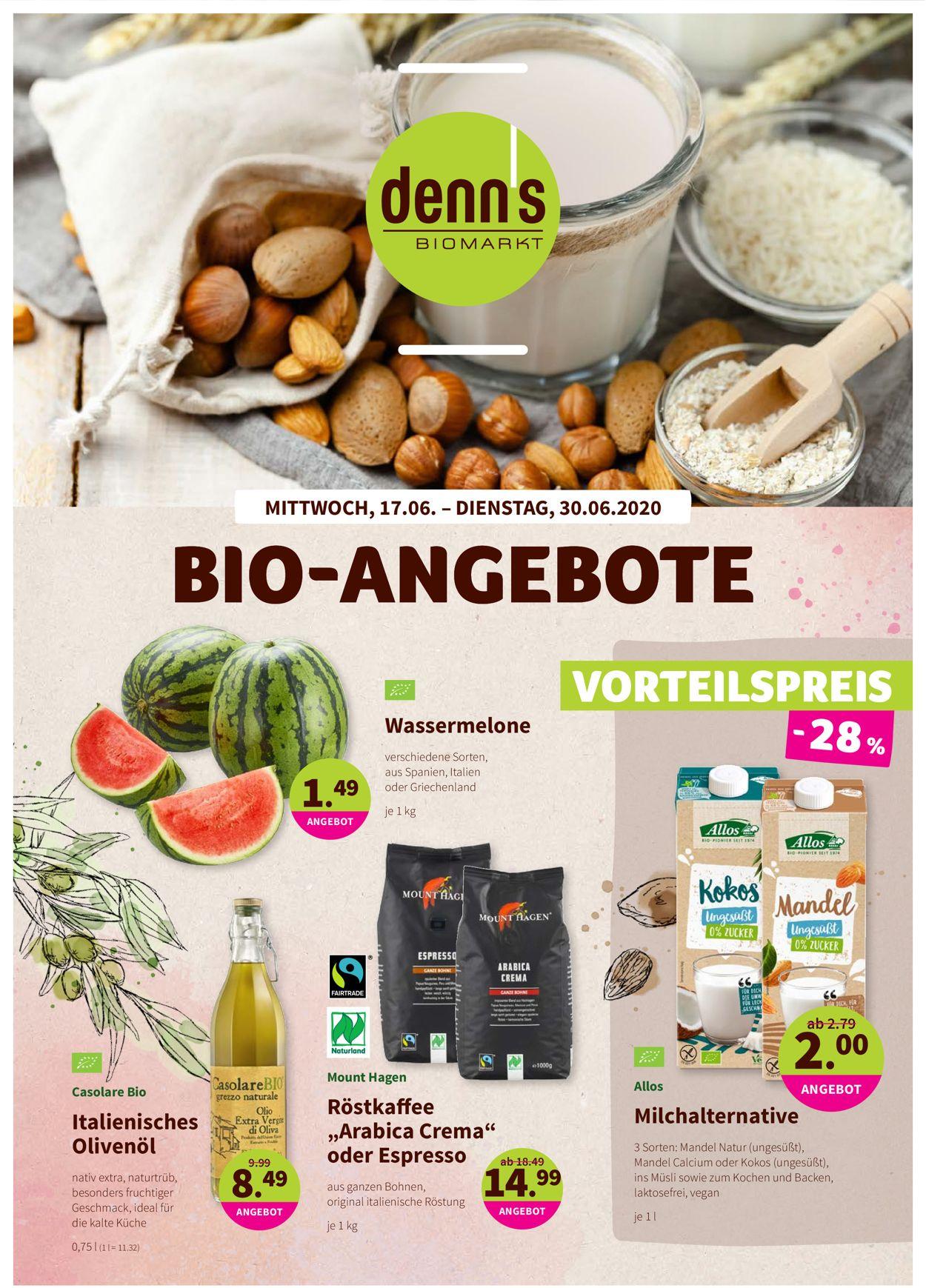 Prospekt Denn's Biomarkt vom 17.06.2020