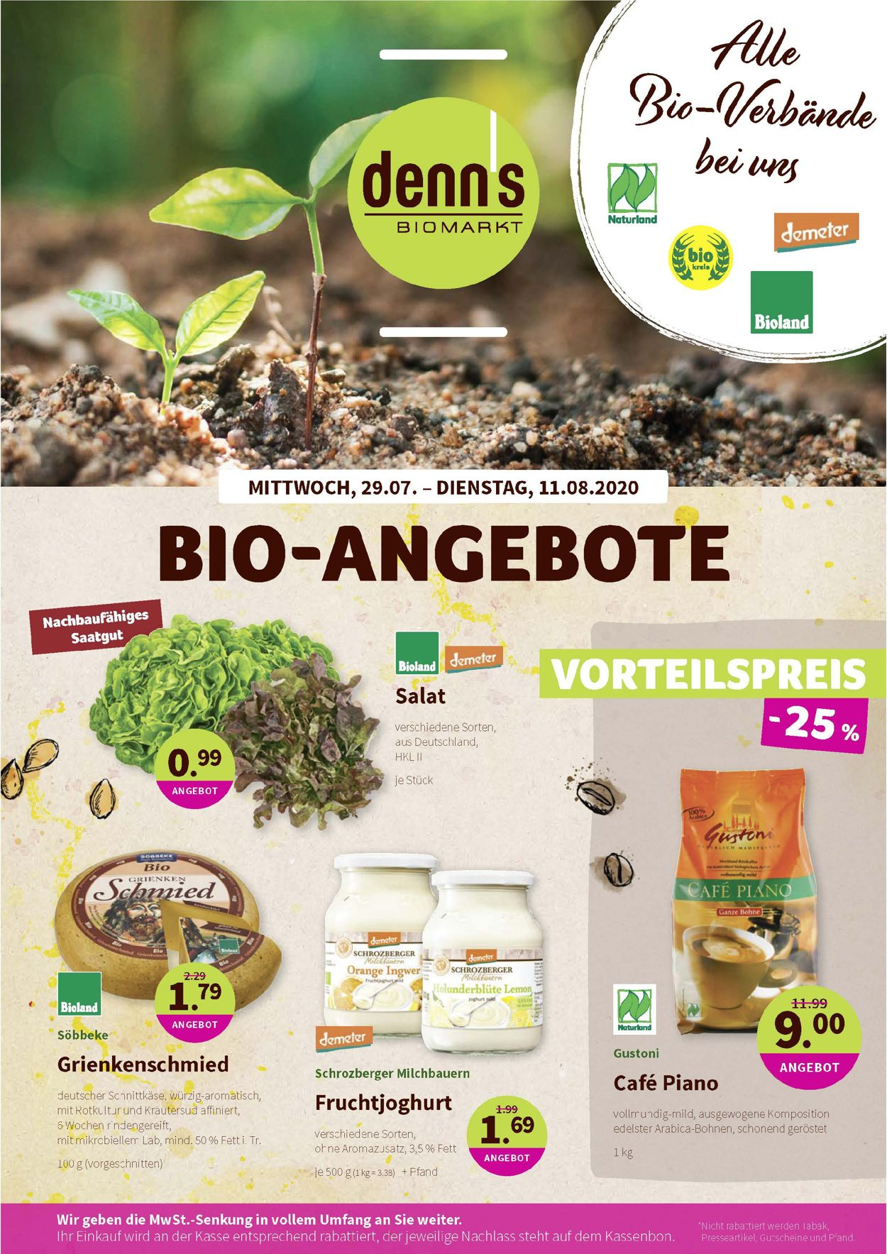 Prospekt Denn's Biomarkt vom 29.07.2020