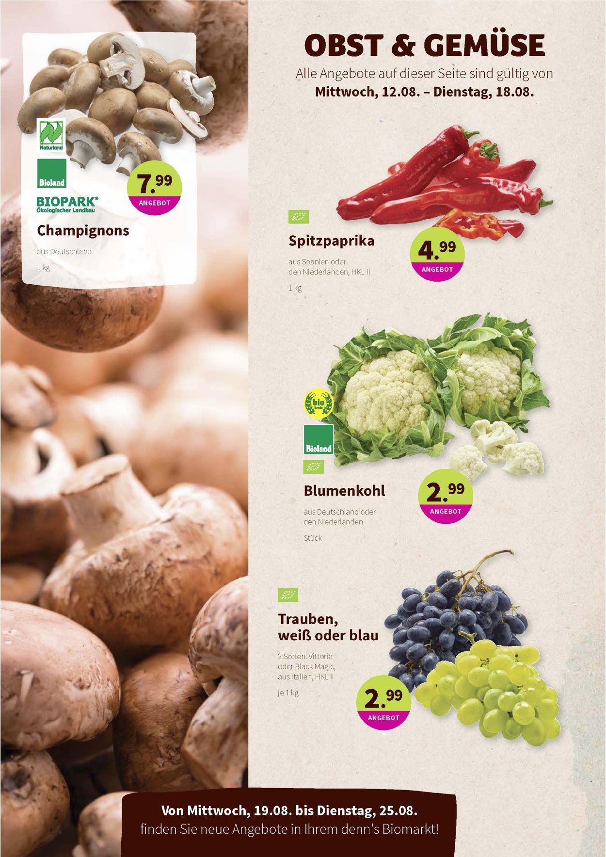 Prospekt Denn's Biomarkt vom 12.08.2020