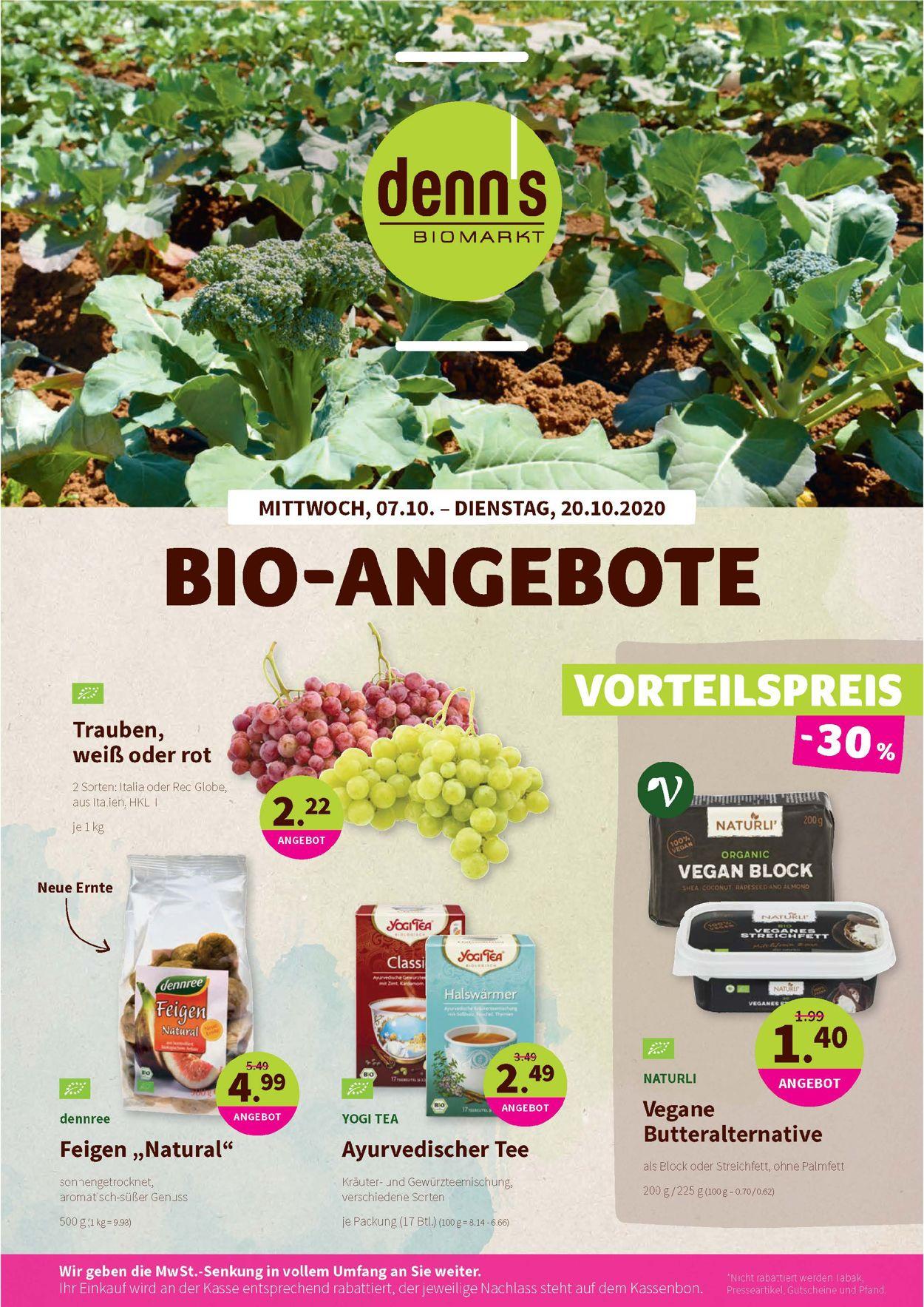 Prospekt Denn's Biomarkt vom 07.10.2020