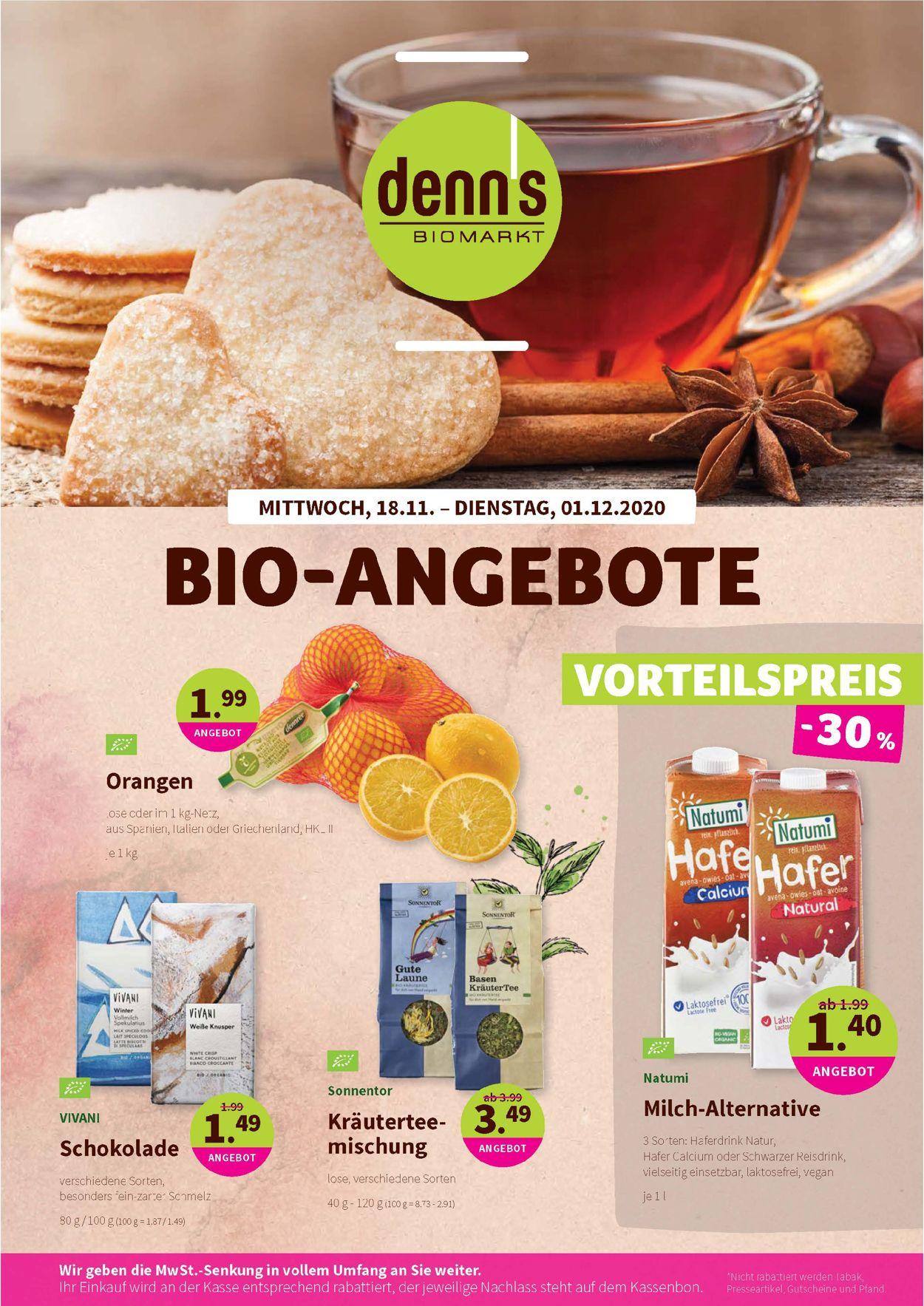 Prospekt Denn's Biomarkt vom 18.11.2020