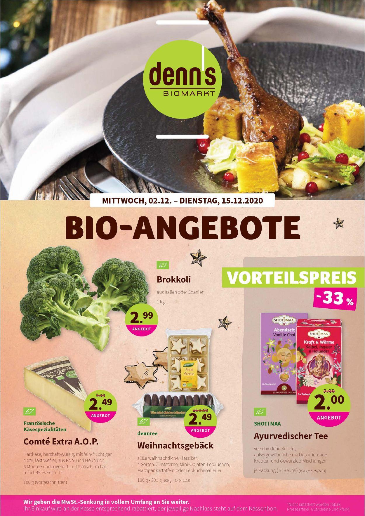 Prospekt Denn's Biomarkt vom 02.12.2020
