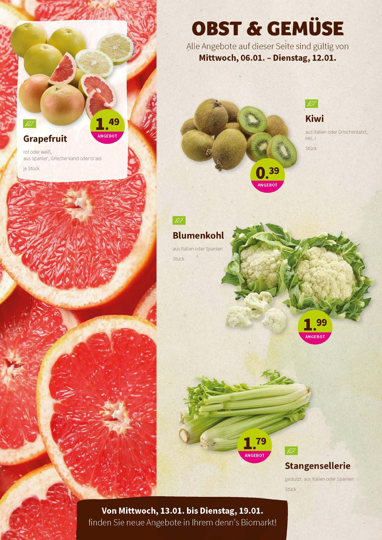 Prospekt Denn's Biomarkt vom 06.01.2021