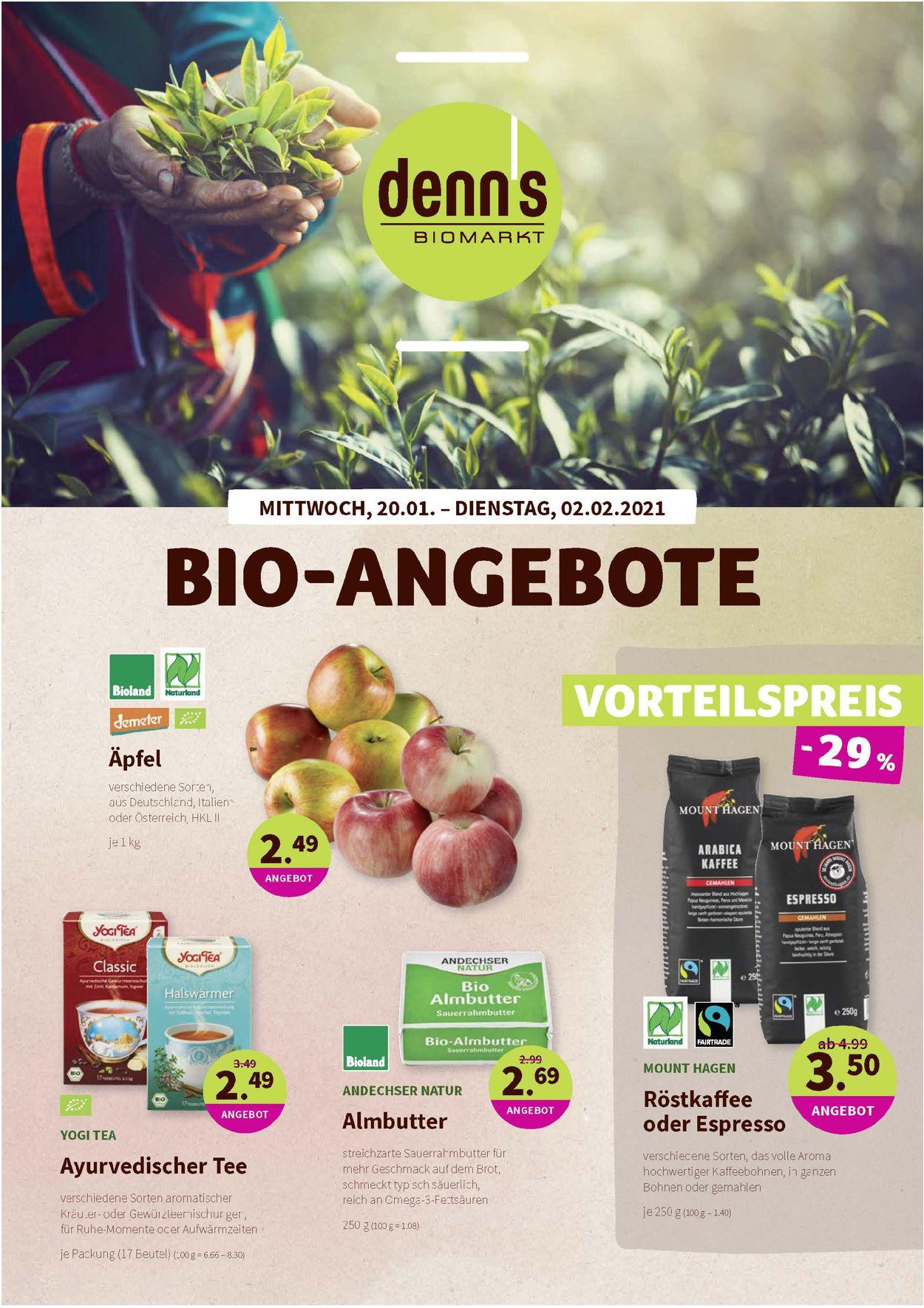 Prospekt Denn's Biomarkt vom 20.01.2021