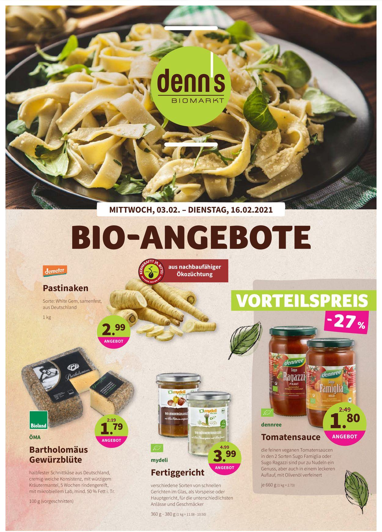 Prospekt Denn's Biomarkt vom 03.02.2021
