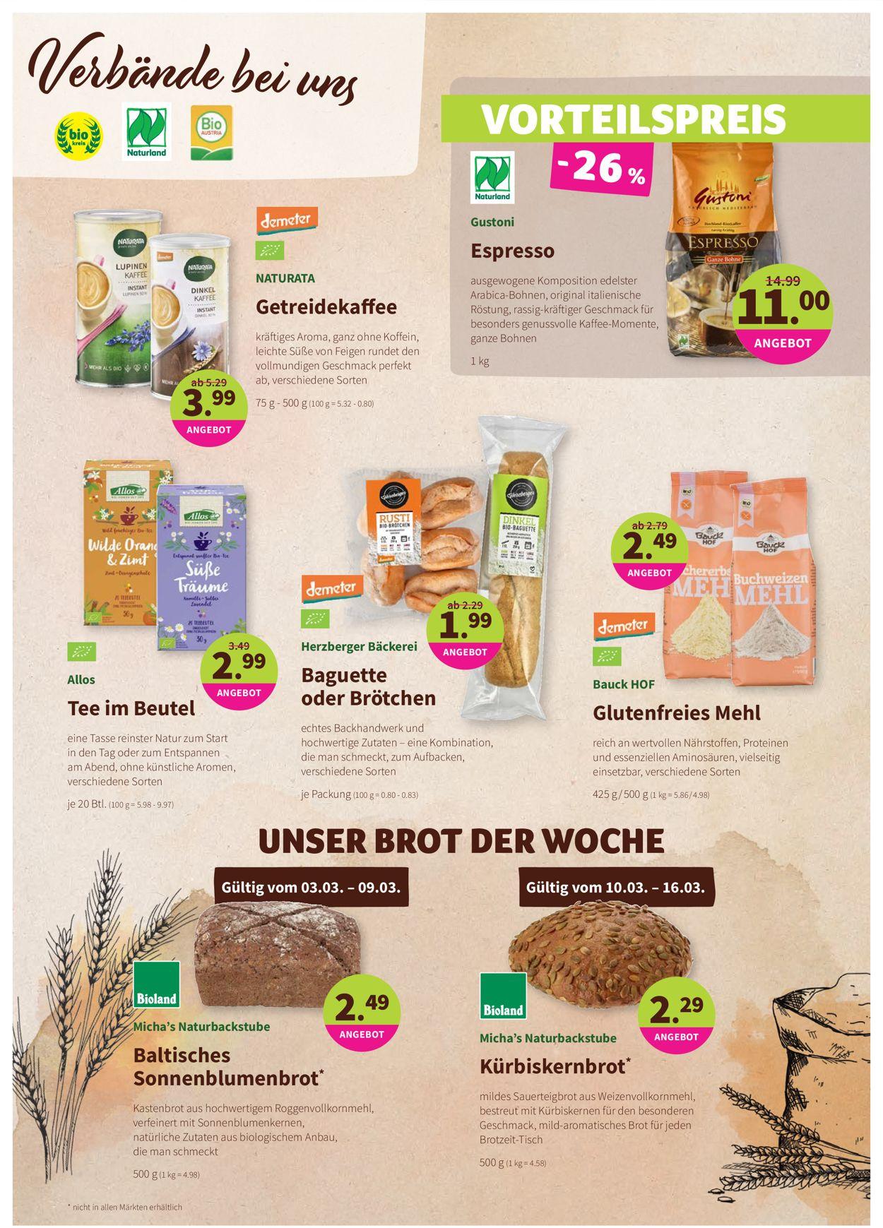 Prospekt Denn's Biomarkt vom 03.03.2021
