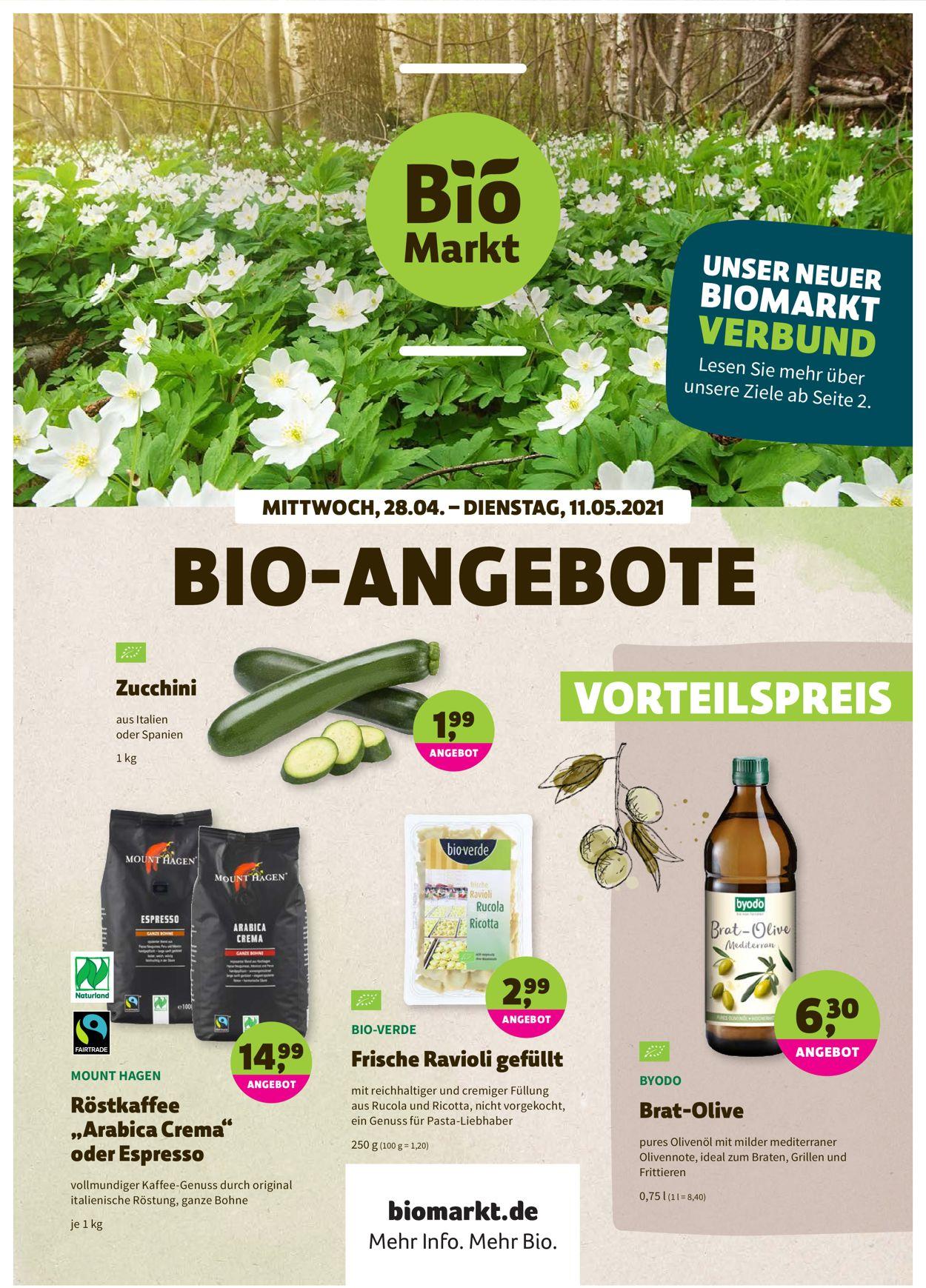 Prospekt Denn's Biomarkt vom 28.04.2021