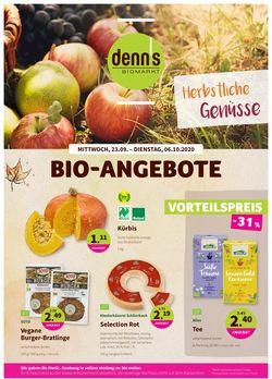 Prospekt Denn's Biomarkt vom 23.09.2020
